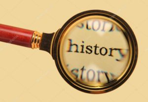 the word history is being applied under a magnifying glass.